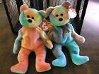 TY BEANIE BABIES GARCIA AND PEACE BEARS - TAG ERRORS