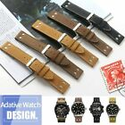 20/22mm Calfskin Leather Watchband Strap Fits For Hamilton Field, Aviation +Tool