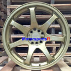 XXR 551 Gold Wheels 17 +36 Staggered Concave Rims 5x1143 92 93 98 Toyota Supra