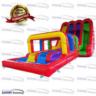 49x20ft Commercial Inflatable Water Triple Slip N Slides With 2 Air Blowers