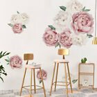 Peony Rose Flowers Wall Sticker Art Nursery Decals Kids Room Home Decor Gift DIY