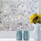 3D Static Cling Frosted Flower Door Window Glass Film Sticker Privacy Home Decor