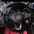 38cm Plush Car Steering Wheel Cover Cute Lace Flower Decoration Steering Wrap