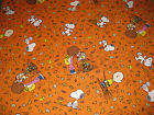 Snoopy Peanuts Leaves Charlie Brown Fall Autumn Fabric Fat Quarter 18 x 21