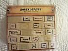 Nostalgiques Frame Words Rubber Stamps Key Cherish Dream Poetry Love Collection