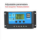 20A 12V 24V Solar Panel Charge Controller LCD Battery Regulator Dual USB Output