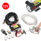 Portable 12V Car Diesel Fluid Extractor Electric Fuel Transfer Pump 4m+2m Hose