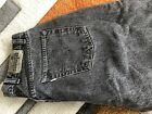 Vintage MENS Levis Silver Tab BAGGY Black Pre Washed Jeans Size 33 X 32