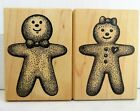 Gingerbread Girl  Boy Rubber Stamp Set Stampa Barbara Christmas Cookies Vintage