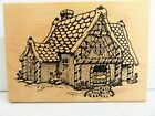 Gingerbread House Stampa Barbara Rubber Stamp Candy Cottage Fairytal