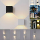 COB LED Wall Light 12W Modern Up Down Cube Indoor Outdoor Sconce Lighting Lamp