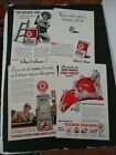 Lot of 4 Vintage 1930s TEXACO MOTOR OIL & GASOLINE Print Advertisements