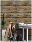 3D Peel and Stick Wallpaper Wood Plank Brown Self Adhesive Distressed Wall Paper