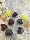SALE  10 Beads MIXED COLOR Heart HAND Blown hollow Glass  lampwork 15mm Beads