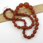 A String of Vintage Natural Honey Amber Beads 49 grams