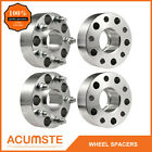 4PCS 2 Hubcentric Wheel Spacers For Jeep JK JKU Wrangler Grand Cherokee Silver