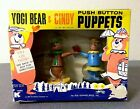 VINTAGE ANTIQUE RARE 1962 NIB NOS KOHNER YOGI BEAR & CINDY PUSH BUTTON PUPPETS