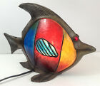 Tiffany Stained Glass Night Light Table Lamp, Fish