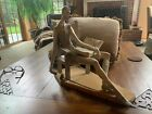 Vintage Lladro 1030 DON QUIXOTE IN Chair With Book And Sword 15