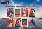 2019 ROAD TRIP STOP 21 CLEVELAND BASE SET OF 8 CARDS Topps Bunt Digital Card