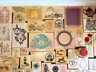Rubber Stamps Lot 50 Birdhouse Gardening Flowers PSX Precious Moments Wood Mount