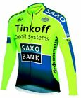 2019 New Tinkoff Pro Cycling Jersey Long Sleeve Ropa Ciclismo Team Autumn Bike