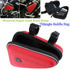 Motorcycle Engine Guard Frame Storage Bag Small Toolkit Triangle Red Saddle-Bag