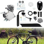 Silver 50CC 2 Stroke Motorized Bike Gas Engine Bicycle Motor Kit Air Cooling Set