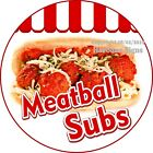 Meatball Subs Decal Choose Your Size Concession Food Truck Circle Sticker
