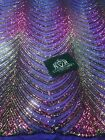 Sequins in Lines Purple Gold Iridescent 4 Way Stretch Two Tone Design