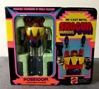 VINTAGE RARE 1977 NIB NOS MATTEL SHOGUN WARRIORS POSEIDON 5 DIE CAST TOY 2107