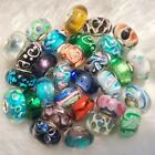 20 5 Silver Hallmark Single Core Murano Glass Beads fit European Charms Bracelet