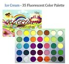 S.he Makeup Colorful Ice Cream 35 Color Fluorescent Shadow Palette