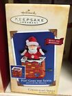 Hallmark 2004 Pop goes the Santa jack in the box Ornament