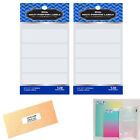 256 Blank Stickers White Labels 2 3 4 X 1 Self Adhesive Crafts Personalize Tag