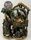 Musical Snow Globe Nativity Windup Rotation 3 Level Snow Globes Christmas Manger