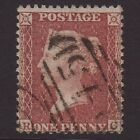 GB QV 1855 1d RED BROWN PLATE 11 RC SGC6 FU NEWCASTLE ON TYNE 545 M12