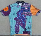 RARE Vintage Giordana Mickey Mouse Cycling Jersey 1996 Unisex Size Large