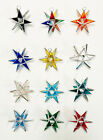 12 Stained Glass Moravian STARS  12 DIFFERENT COLORS