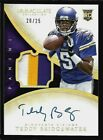 2014 Immaculate Gold Teddy Bridgewater Auto 3 Color Patch Rc #111 20 25 Saints