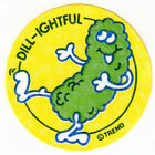 Vintage Trend Scratch and Sniff Stinky Sticker DILL PICKLE matte
