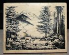 Rare PSX K 2583 Deer Wood Forest Wood Rubber Stamp Mountains Nature