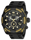 Invicta Bolt Men's Chronograph Black Tone Swiss Movement Steel 51mm Watch 26996