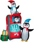 Gemmy Airblown Penguins Mailbox Inflatable