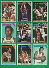 1975-76 Topps Basketball lot of 165 diff cards Lanier Hawkins Wilkes RC Bing