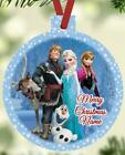 FROZEN GROUP Christmas Ornament Personalized Any Name Anna Elsa Olaf Kristoff