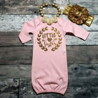 US Newborn Baby Girl Little Sister Princess Romper Babygrow Sleepsuit Outfit Set