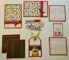 YOU COLOR MY WORLD Premade Scrapbook Page Mat Set sewn