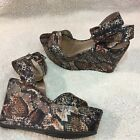 Bcbg Generation Womens 9 snakeskin platform Wedge Sandals