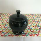 Fiestaware Black Individual Sugar Bowl with Lid Fiesta Retired